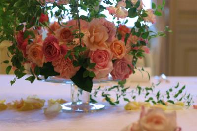 木の家と晩餐会 あるホテル様への装花_a0042928_17462458.jpg