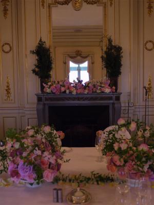 木の家と晩餐会 あるホテル様への装花_a0042928_1753353.jpg
