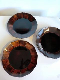 安齋新さん、厚子さんのアメ釉輪花7寸皿、5.5寸皿_b0132444_16562588.jpg