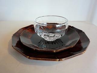 安齋新さん、厚子さんのアメ釉輪花7寸皿、5.5寸皿_b0132444_16591866.jpg