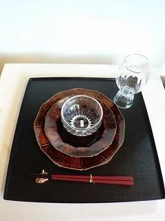 安齋新さん、厚子さんのアメ釉輪花7寸皿、5.5寸皿_b0132444_1703064.jpg