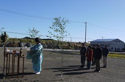 『島田・茶庵』 の地鎮祭!_b0111173_1053284.jpg