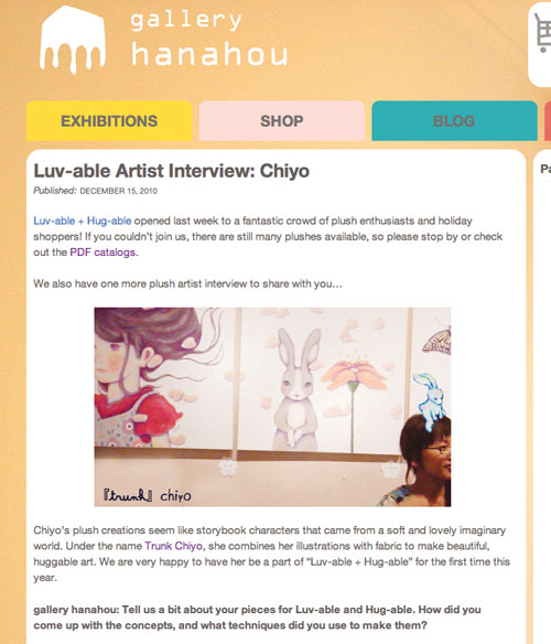 インタビュー掲載(アメリカ ニューヨーク gallery hanahou)_f0223074_21271328.jpg
