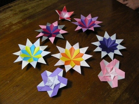クリスマス 折り紙 こま 折り紙 : tojorigami.exblog.jp