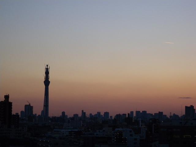 夕暮れの東京スカイツリーと富士山_e0089232_22195944.jpg