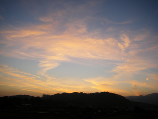 夕焼け5 と冠雪大山_d0044938_1724092.jpg