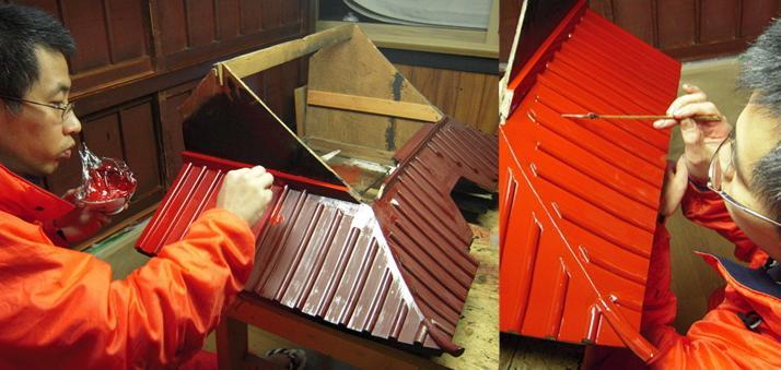 林幽寺のお厨子の修理 その16 上塗り 2010.12.22_c0213599_20382732.jpg