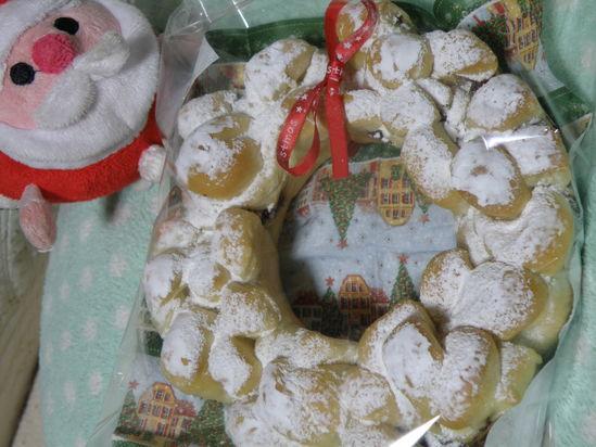 クリスマスパン&SAORI織り_b0177183_21144165.jpg