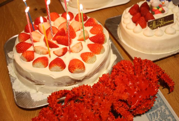 クリスマスケーキと蟹 12月24日_f0113639_1314938.jpg