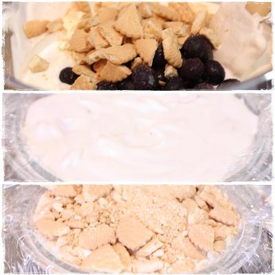 アイスケーキ☆ヘルシーブルーベリーチーズケーキ味_b0165178_20544764.jpg