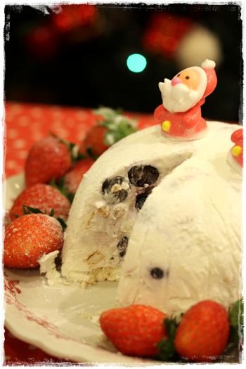 アイスケーキ☆ヘルシーブルーベリーチーズケーキ味_b0165178_2056428.jpg