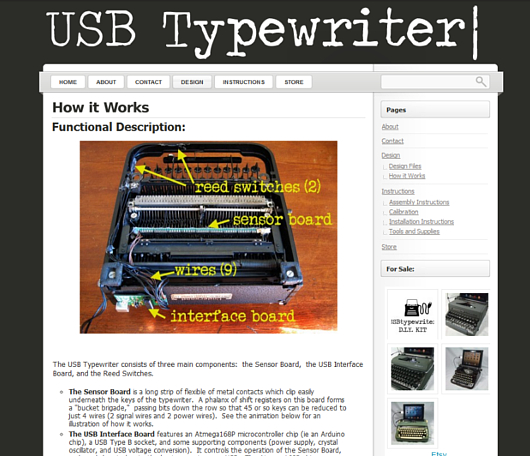 古いタイプライターをパソコン用キーボードに! USBTypewriter_b0007805_7424268.jpg