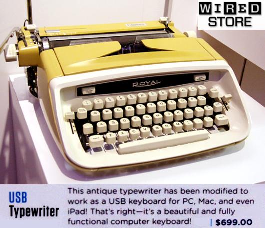古いタイプライターをパソコン用キーボードに! USBTypewriter_b0007805_8281173.jpg