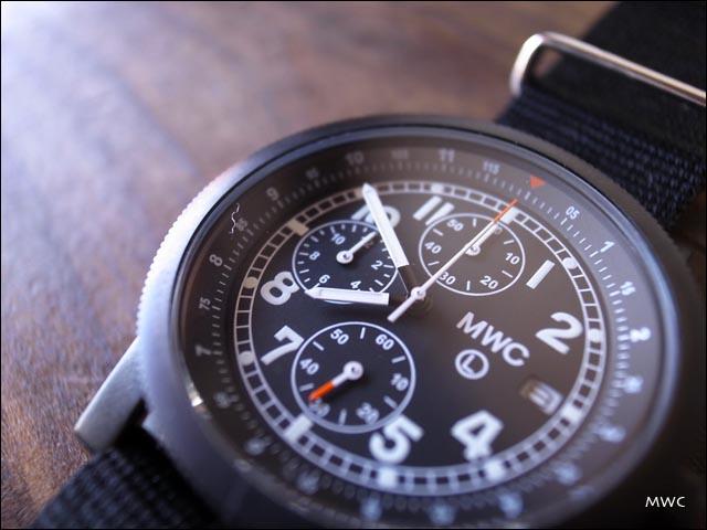 MWC[エム・ダブル・シー] MIL TECH MK2 BLK ミリタリーウォッチ クロノグラフ腕時計 _f0051306_15333820.jpg