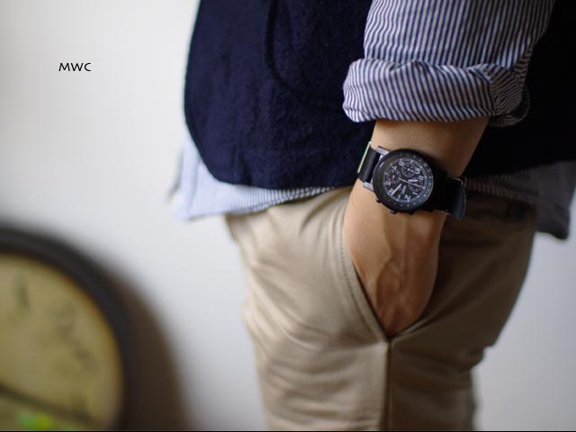 MWC[エム・ダブル・シー] MIL TECH MK2 BLK ミリタリーウォッチ クロノグラフ腕時計 _f0051306_1533438.jpg