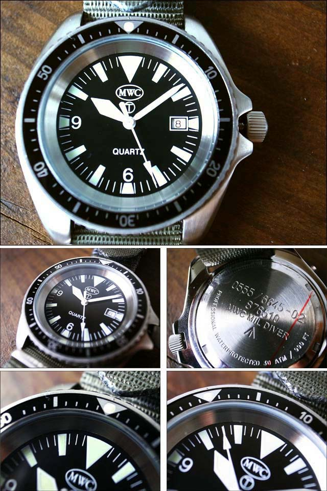 MWC[エム・ダブル・シー] NATO DIVERS STAINLESS ミリタリーウォッチ ダイバーズ腕時計_f0051306_15402652.jpg