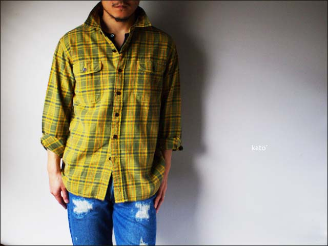 KATO\'DENIM [カトーデニム] CHECK FLANNEL SHIRTS [チェックネルシャツ]ワーク シャツ [S-07218] MEN\'S _f0051306_15423480.jpg