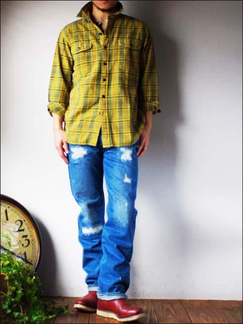 KATO\'DENIM [カトーデニム] CHECK FLANNEL SHIRTS [チェックネルシャツ]ワーク シャツ [S-07218] MEN\'S _f0051306_15423651.jpg