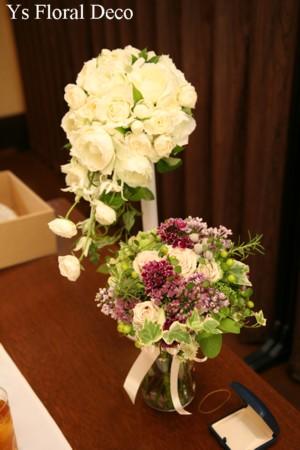 カップ咲きのバラのキャスケードブーケ_b0113510_0451842.jpg