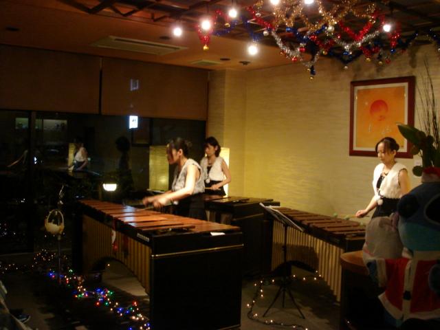 クリスマスマリンバライブ IN  みのり旅館_c0117574_7544781.jpg