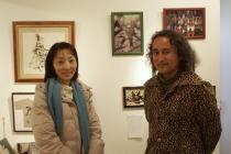グループ展「小品展」最終日@アートイマジンギャラリー/浅田真央の追う兎_f0006713_7373485.jpg