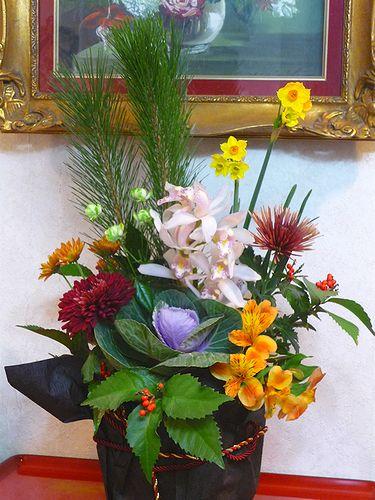迎え花 の 贈り物 と 可憐な水仙*。。*。:☆.。† _a0053662_20104030.jpg