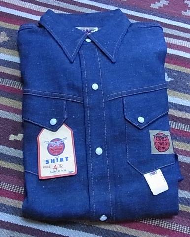 1月2日入荷商品!50'S デニム シャツ デッドストック_c0144020_1025128.jpg