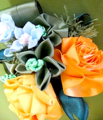 Orange and LT Blue Bouquet オレンジと水色のブーケ_c0196240_1643565.jpg