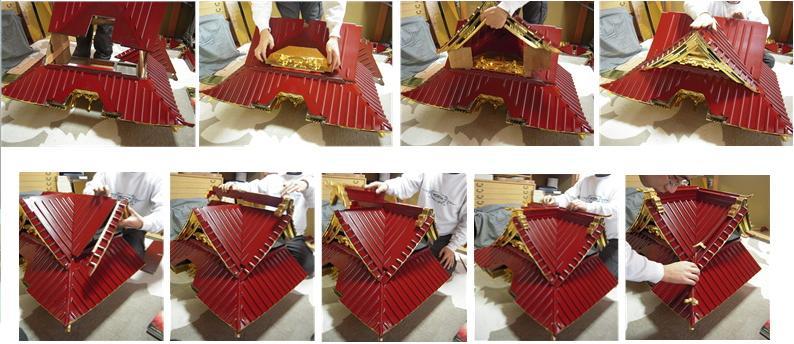 林幽寺のお厨子の修理 その19  屋根完成 2010.12.30_c0213599_0135421.jpg