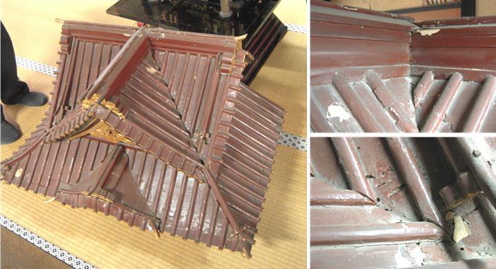 林幽寺のお厨子の修理 その19  屋根完成 2010.12.30_c0213599_0443925.jpg