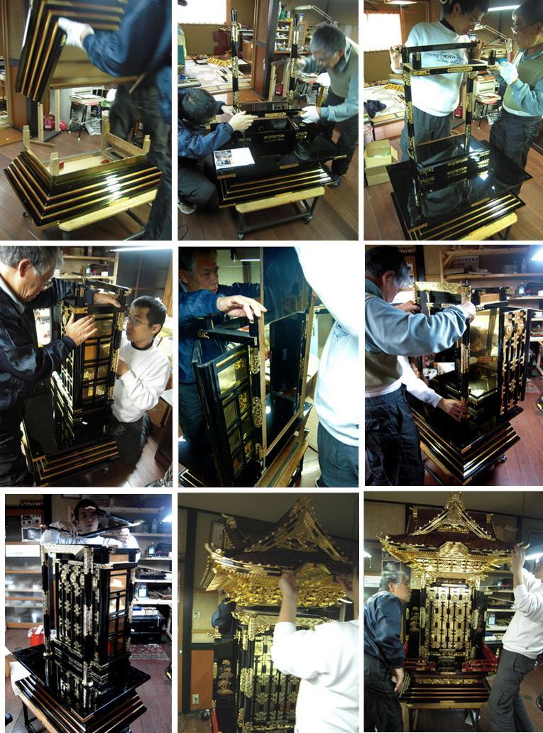 林幽寺のお厨子の修理 その20 完成 2010.12.30_c0213599_1483994.jpg