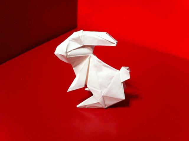 ハート 折り紙 : ウサギの折り方 折り紙 : divulgando.net