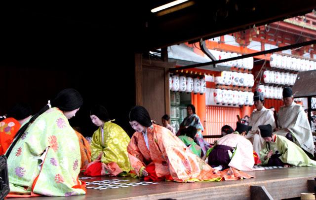 八坂神社 かるた始め式_e0048413_20204554.jpg