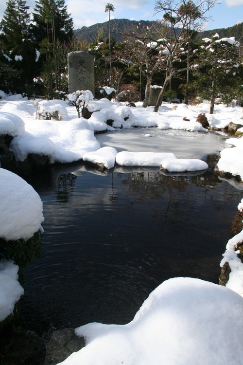 雪解けの大原 三千院_c0100195_22574155.jpg