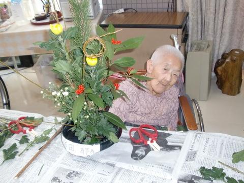 生け花、正月飾り。_e0164724_22425592.jpg