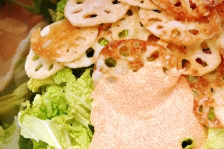 コクうま☆レンコンと白菜の明太マヨ和え_d0104926_2276100.jpg