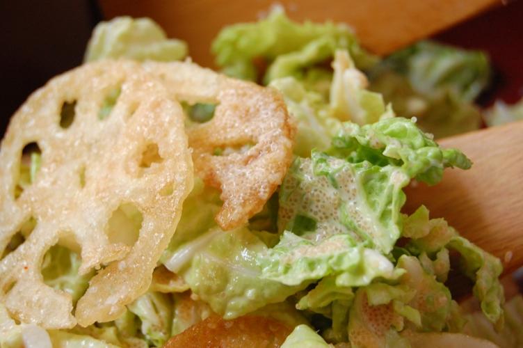 コクうま☆レンコンと白菜の明太マヨ和え_d0104926_2376100.jpg