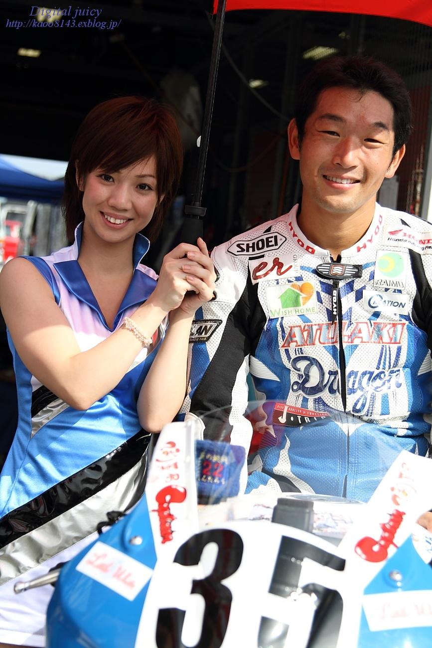 saki さん(ATU.AKI team しんたろう with KRT レースクイーン)_c0216181_22544866.jpg