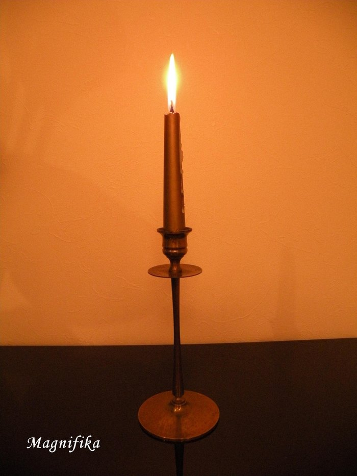 蝋燭/Candles-24 真鍮の蝋燭立 Brass candle sticks_e0140365_21392560.jpg