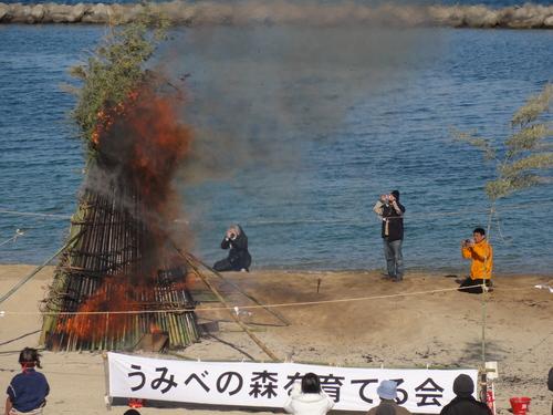 [2011新春里海まつり] in 「とんど焼き」_c0108460_18312569.jpg