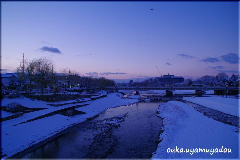 京都出町柳から望む初日の出-2_a0157263_23292636.jpg