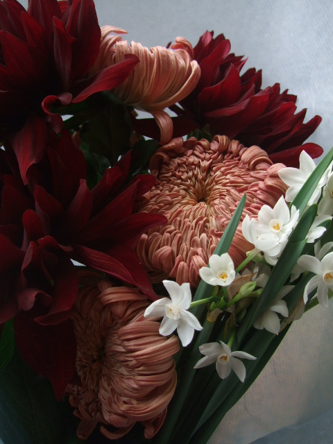 オークリーフ(お正月の花束)_f0049672_8415290.jpg