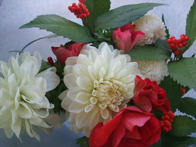 オークリーフ(お正月の花束)_f0049672_8421188.jpg