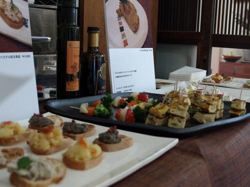 倉田牧郎さんの器とサスケストアの食材とカルティベイトの料理がコラボしました_a0195310_2283976.jpg