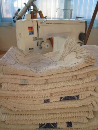 去年のタオルは雑巾に_e0170272_1123199.jpg