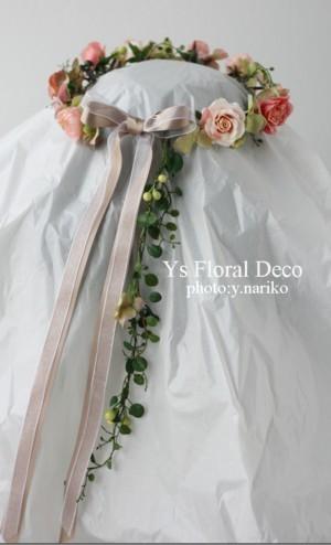 お色直しの花冠&リストレット しっぽつき☆_b0113510_23241991.jpg