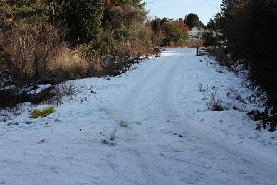 雪の道,北国ではありません_e0175370_15252739.jpg