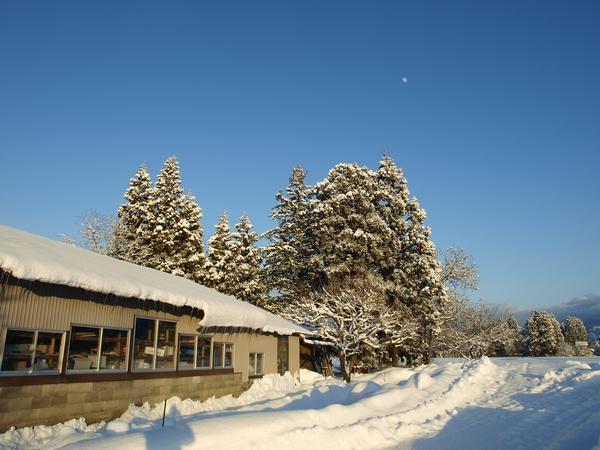冬の夕暮れ~月_a0062869_19583738.jpg
