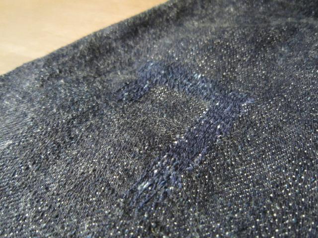 モモのリペア ブランドジーンズ 目だたない様に普通縫い_a0182112_15555399.jpg
