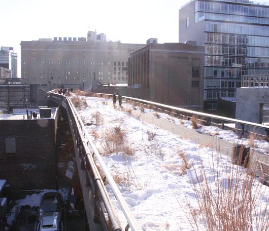ニューヨークの空中公園、ハイラインも雪景色_b0007805_026248.jpg